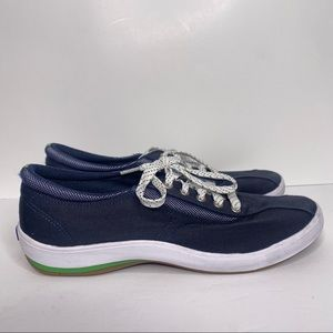 Keds Blue Women's Lace Up low top shoes arch 8.5